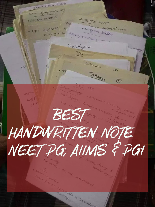 Handwritten Notes by DAMS Teacher - MBBS Help